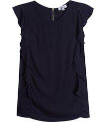 blusa con arandela en costados color negro, talla 8