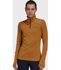 chaqueta outdoor adidas outdoor w multi 1/2 fl camel - calce regular
