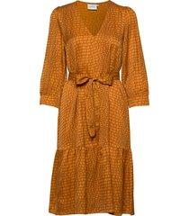 tabbygz dress ms20 jurk knielengte geel gestuz