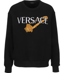 versace safety pin embroidered sweatshirt