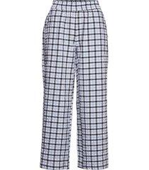 pants w. wide and waistband vida byxor blå coster copenhagen
