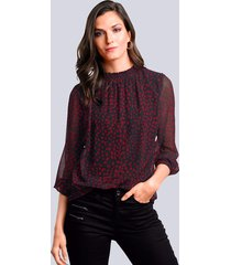 blouse alba moda rood::zwart