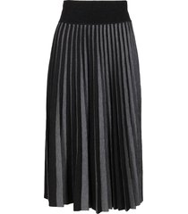 agnona grey wool-blend skirt