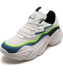 tenis lifestyle blanco-amarillo-azul ocean pacific anrix-h1