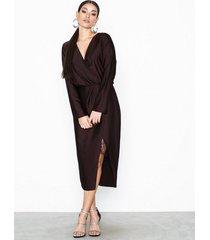 river island long sleeve waisted dress loose fit