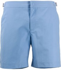 orlebar brown bulldog mid-length swim shorts - blue