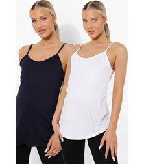 zwangerschap 2 hemdjes en legging (3 stuks), navy