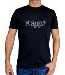 camiseta kappa authentic estessi - negro