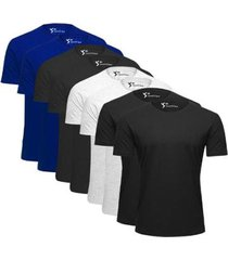 kit 8 camiseta basica t shirt variadas 100% algodão anti bolinhas av15 masculina - masculino