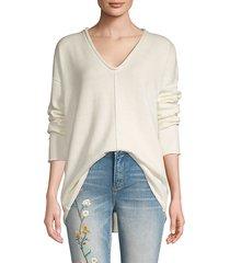 v-neck cotton-blend sweater
