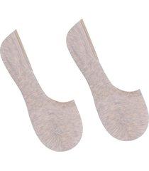 calzedonia - unisex cotton no show socks, 40-41, nude, women