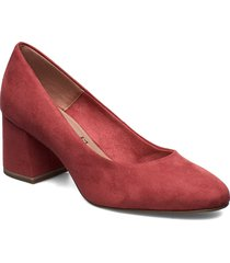 woms court shoe shoes heels pumps classic röd tamaris