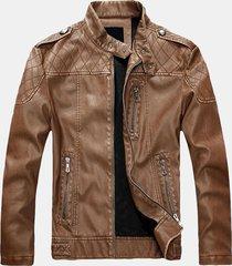 cappotto da motociclista per uomo, in stile europeo americano