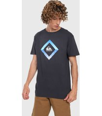 camiseta azul-multicolor quiksilver tropical mirage tee