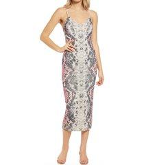 women's afrm amina sleeveless midi dress, size x-small - pink