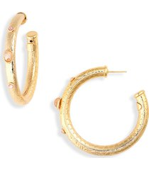 women's gas bijoux maoro embellished hoop earrings