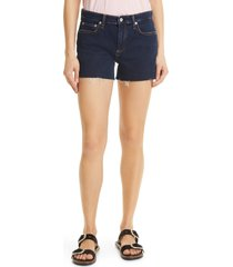 women's rag & bone dre denim shorts, size 32 - blue