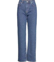 comfort stretch raka jeans blå ganni