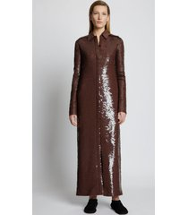 proenza schouler sequin shirt dress 201 dark brown 6