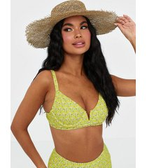 missguided ditsy cupped bikini top top