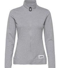 jacket flavia flavia sweat-shirt tröja grå björn borg