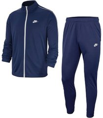 conjunto buzo y pantalón de hombre m nsw ce trk suit pk basic nike azul