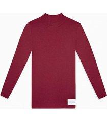sweater iconic rib burdeo calvin klein