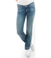 straight jeans wrangler drew aqua w24sjj61k