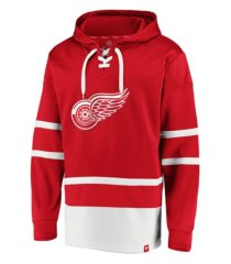 majestic detroit redwings men's power play lace up hoodie