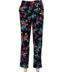 vero moda soepele loose fit broek van stevig polyester
