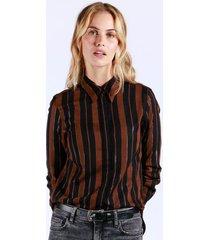 camisa lurex stripes