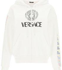 versace logo sweatshirt with hoodie