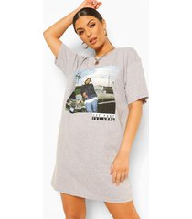 gelicenseerde ice cube t-shirtjurk, grey