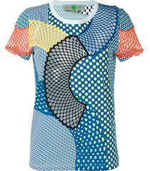 stella mccartney 'cobalt mesh mix' t-shirt - white