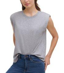 calvin klein padded-shoulder sleeveless top
