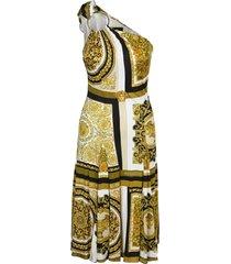 versace barocco mosaic print one shoulder dress