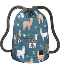 blue llamas dwustronny plecak sack it!