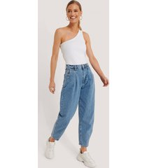 trendyol high waist balloon jeans - blue