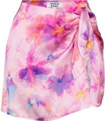 frankies bikinis dani floral-print mini skirt - pink