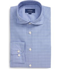 men's eton soft casual line contemporary fit button-up shirt