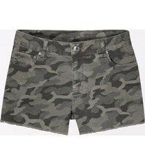 maurices womens vintage high rise camo 3.5in shorts green
