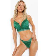 kanten long line dd+ beha met laag decolleté, emerald