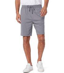 men's paige bodhi drawstring linen blend pique shorts, size x-large - grey
