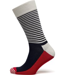 half stripe sock sockor strumpor blå happy socks