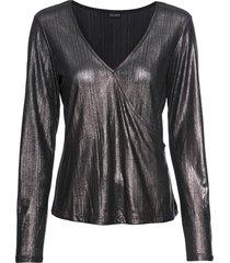 maglia lucida a maniche lunghe (argento) - bodyflirt