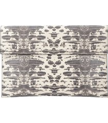 alexander mcqueen envelope printed leather flat pouch