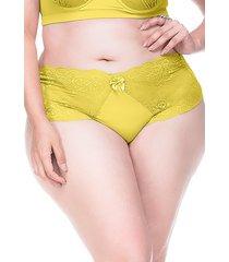 calcinha sempre sensual lingerie retrô amarelo - kanui