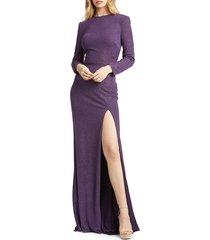 mac duggal women's sparkle sheath gown - amethyst - size 12