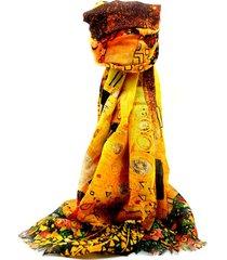 pashmina amarilla leblu estampada