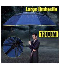 130cm guarda-chuva dobrável grande anti-uv à prova de vento grande tamanho grande para homens e mulheres
